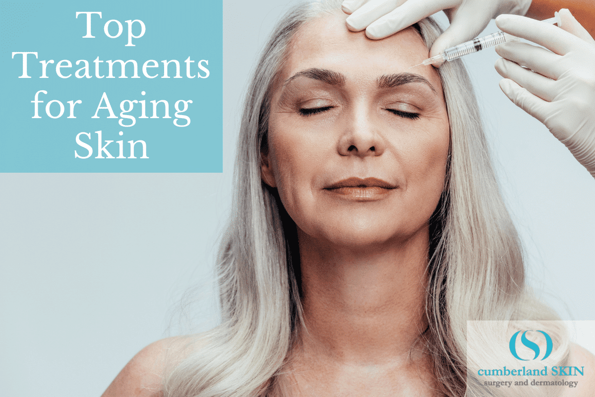 woman receiving an anti-aging treatment at Cumberland Skin